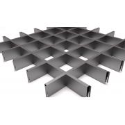 Потолок Грильято 100х100х40мм Серый