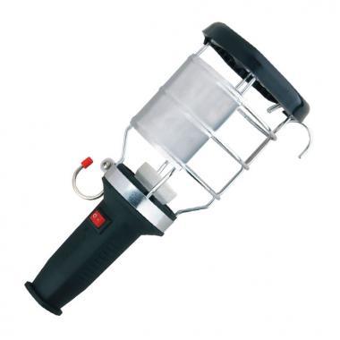 Переносной светильник с ручкой из каучука с выключателем