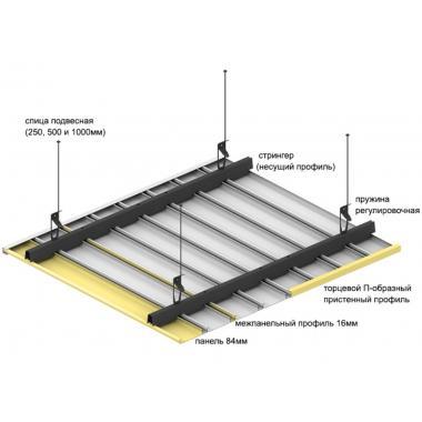 Монтаж металлического реечного потолка