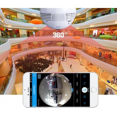 Лампа камера 5 Mpx 360° панорамная wi-fi E27