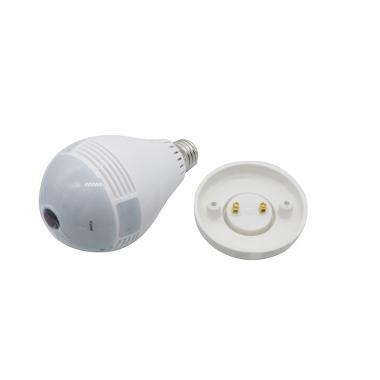 Лампа камера 3 Mpx 360° панорамная wi-fi E27