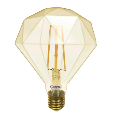 Лампа LED Decor GOLD Бриллиант 10вт Е27