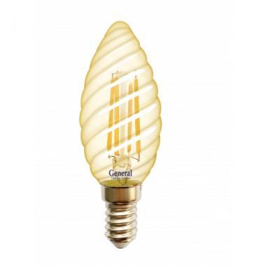 Лампа LED свеча витая GOLD 7вт Е14