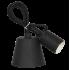 Светильник патрон Е27 силиконовый со шнуром 1м черный