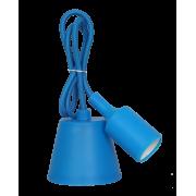 Светильник патрон Е27 силиконовый со шнуром 1м синий