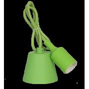 Светильник патрон Е27 силиконовый со шнуром 1м зеленый