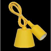 Светильник патрон Е27 силиконовый со шнуром 1м желтый